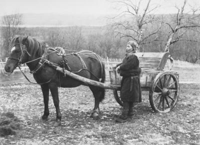 Doktorskyss i gamle dager. På bildet; Margit Bigga Hansdatter Johnsen.