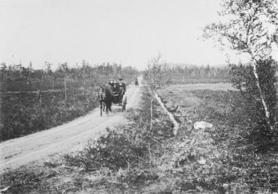 Midtveismyra, mellom Strand og Svanvik. Håkon Finstad til høyre.