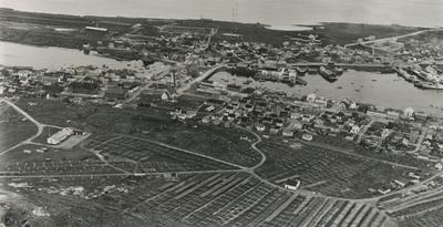 Flyfoto av Vardø, 3. september 1962