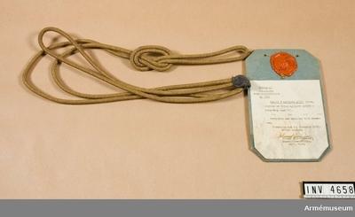 Ägiljett m/1939, Modellexemplar : Fastställdes år 1816 under benämning