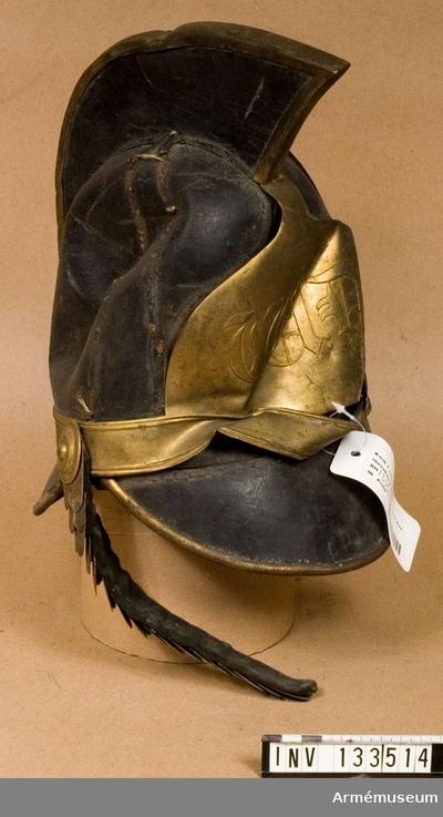 Kask, Kask för tullstatens beridna kustbevakning, 1820-tal :