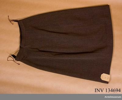 Kjol m/1942, Yllekjol m/1942 för kvinlig personal :