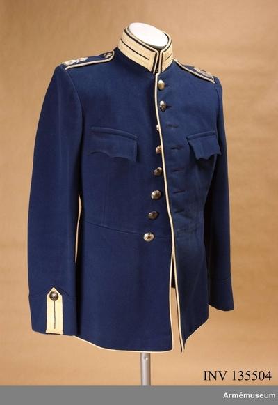 Vapenrock m/1895, Vapenrock m/1895 för manskap vid Livgardet till häst :