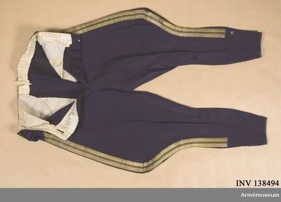 Ridbyxor m/1880, Ridbyxor m/1880 för kapten vid Wendes artilleriregemente :