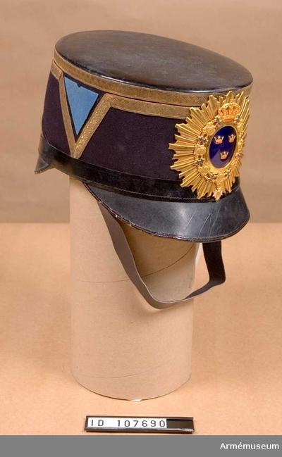 Käppi m/1880, Käppi m/1880 för officer vid Svea artilleriregemente :