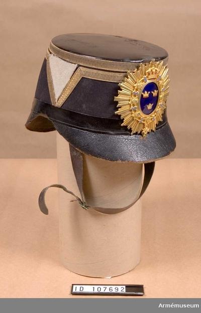 Käppi m/1880, Käppi m/1880 för officer vid Wendes artilleriregemente :