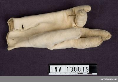 Handske, Handske för manskap vid Skånska husarregementet :