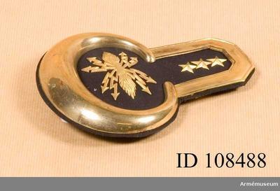 Epålett m/1827, Epålett m/1827 för kapten vid artilleriet :