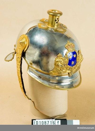 Hjälm m/1879-1900, Hjälm m/1879-1900 för officer vid Livgardet till häst :