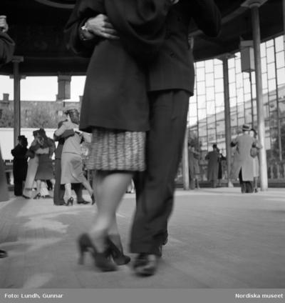 Dansande par på Gröna Lund 1938.