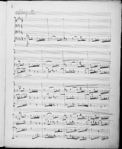 Fugue à Quatre Voix. Concours d'Essai 12 Mai 1893