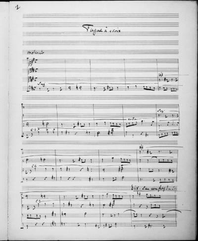 Fugue à Quatre Voix. 14 Octobre 1895 (en 10 heures)