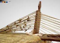 Harpe-luth kasso (kora), Anonyme, Afrique occidentale, 19e siècle, E.411, détail