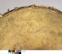 Tambour en sablier type tama, Anonyme, Sénégal, 19e siècle, E.416, détail