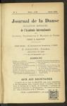 Le Journal de la danse et du bon ton, n. 1, avril 1905