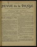 Revue de la danse, n. 9, avril 1921