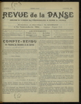 Revue de la danse, n. 17, janvier 1922