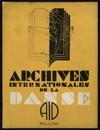 Archives internationales de la danse, n. 0, 1932