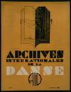 Archives internationales de la danse, n. 1, 13 janvier 1933