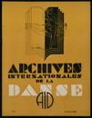 Archives internationales de la danse, n. 2, 15 avril 1933