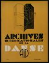 Archives internationales de la danse, n. 3, 15 juillet 1933