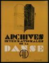 Archives internationales de la danse, n. 4, 15 octobre 1933