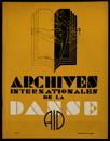 Archives internationales de la danse, n. 1, 15 janvier 1934