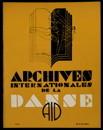 Archives internationales de la danse, n. 2, 15 avril 1934