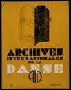 Archives internationales de la danse, n. 4, 15 octobre 1934