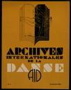 Archives internationales de la danse, n. 1, 15 janvier 1935