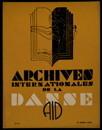 Archives internationales de la danse, n. 3, 15 juillet 1935