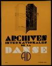 Archives internationales de la danse, n. 4, 15 octobre 1935