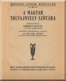 A magyar tolvajnyelv szótára: