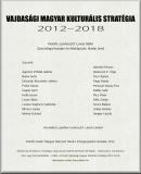 Vajdasági magyar kulturális stratégia: 2012-2018