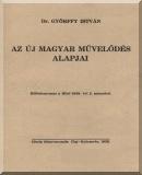 Az új magyar művelődés alapjai: Különlenyomat a Hitel 1939. évi 2. számából