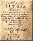 A' sóltároknak altusa: Mellyet a nótáknak természetekhez alkalmaztatott közönséges régulákon contrascribai hivataljában ki dolgozott...