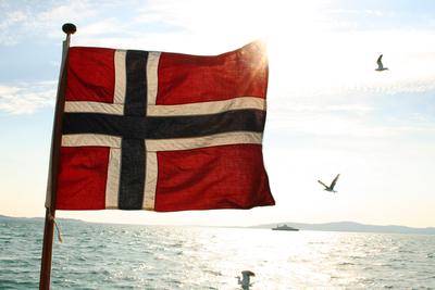 Det norske flagget - og fredsdagen 8. mai 1945