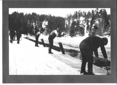 Langangen og isproduksjon