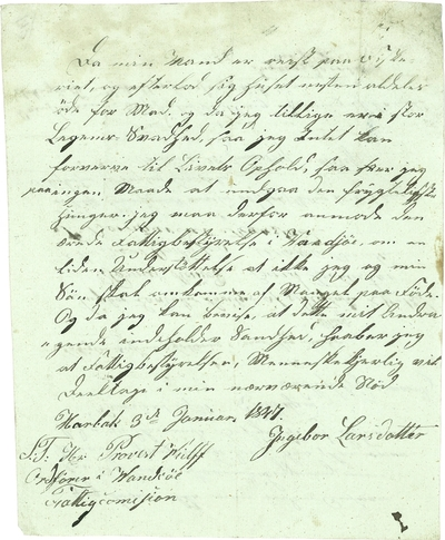 Et brev til fattigvesenet
