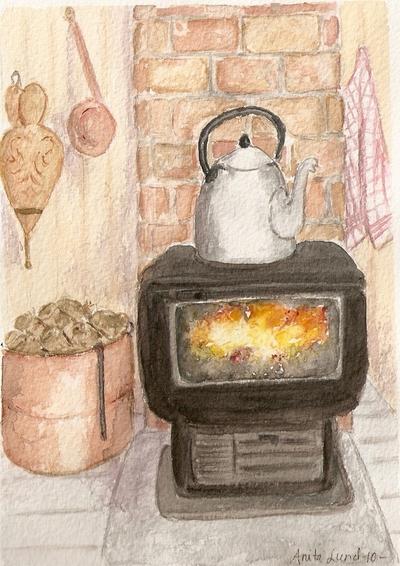 4) Mot jul - Vedfyring