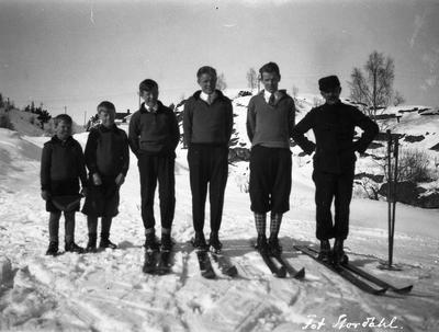 Familien Ruud på Storåsen 1928