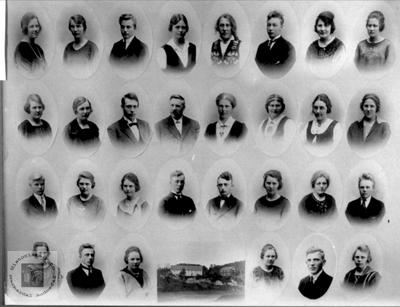 Elever ved Marnar Folkehøgskole 1923-1924