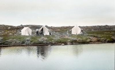 Fra foredragsrekken Landmålerlivet i Finnmark v/Axel Printz : Leir ved Dævkedemjokka