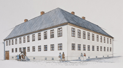 MOESTUEGÅRDEN og UNIVERSITETET I1814