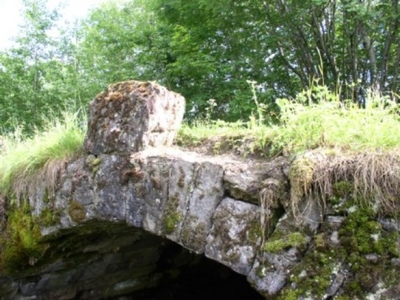 Øverland bro - brosted fra middelalderen