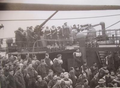 Skotske soldater i landsatt på Sjøvegan