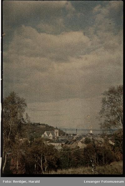 Utsikt over Levanger tatt fra Brusve området.