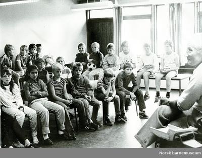 Besøk av krigsveteran, Aspervika skole, Sandnes