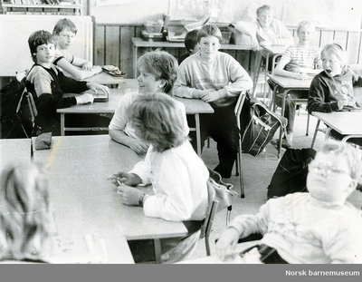 Elever i klassrom, Lura skole, Sandnes