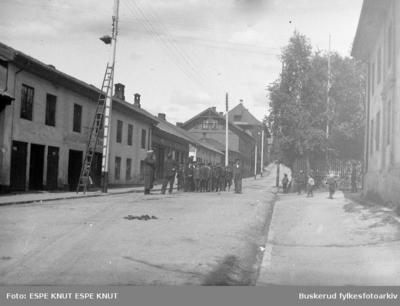 Elever fra Hønefoss Folkeskole besøker Kongsberg i 1907